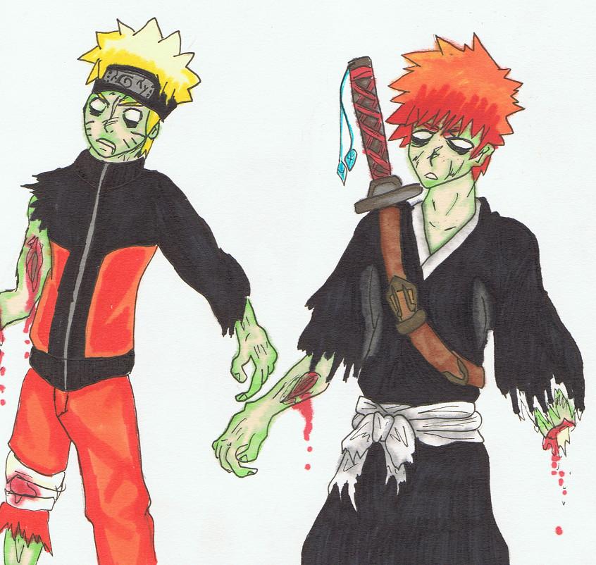 Zombie Naruto And Ichigo By Pinappleninja On DeviantArt