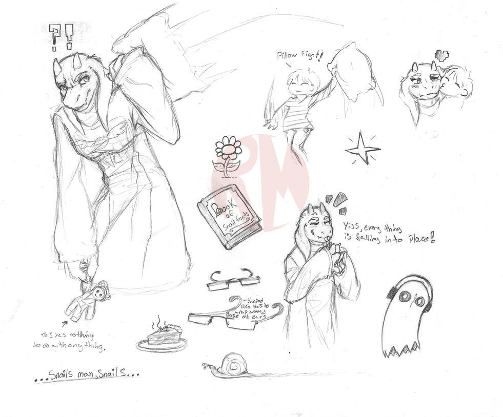 Undertale Toriel Traditional Doodles By Redmok On DeviantArt