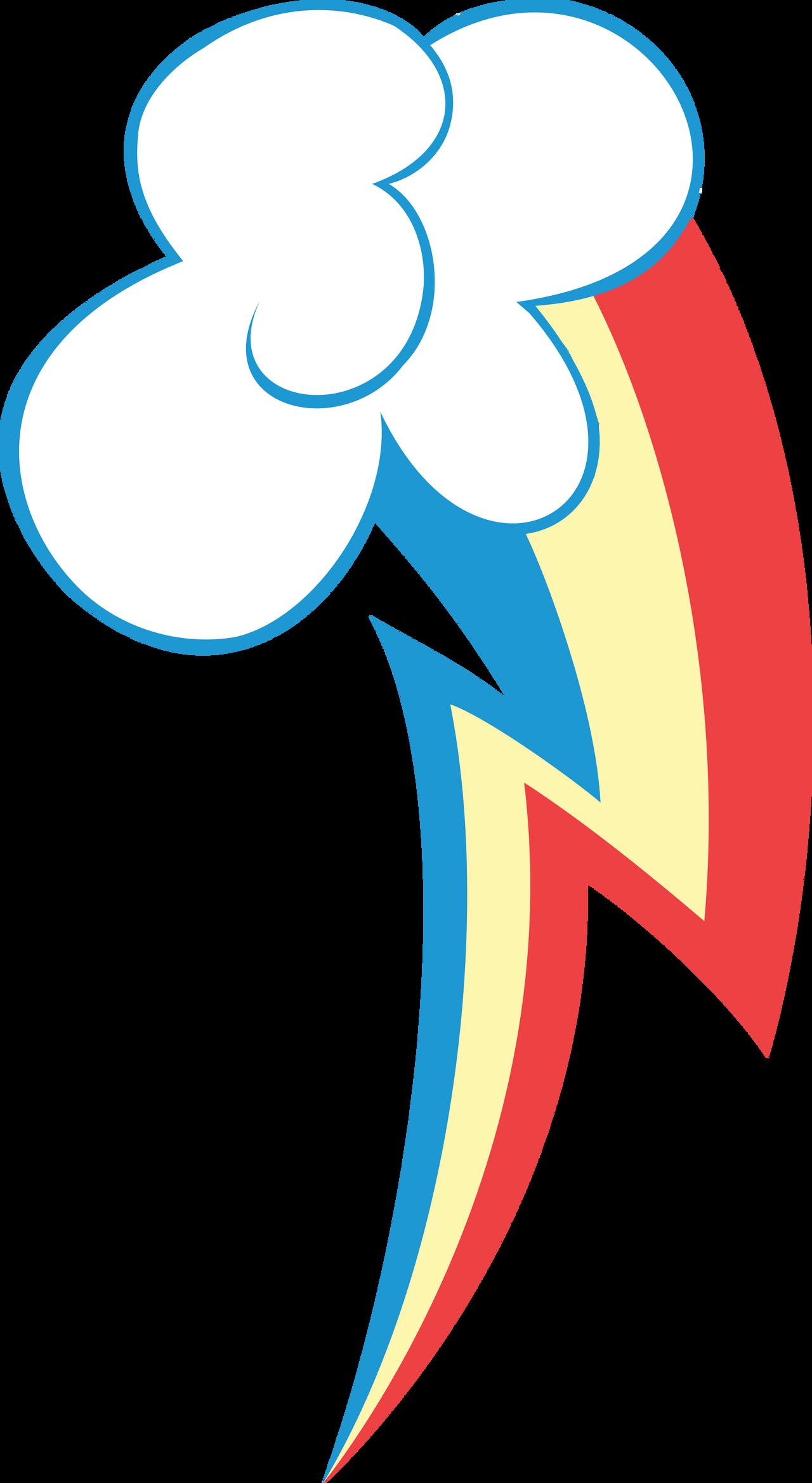 Rainbow Dash Cutie Mark Vector by Mortris on DeviantArt