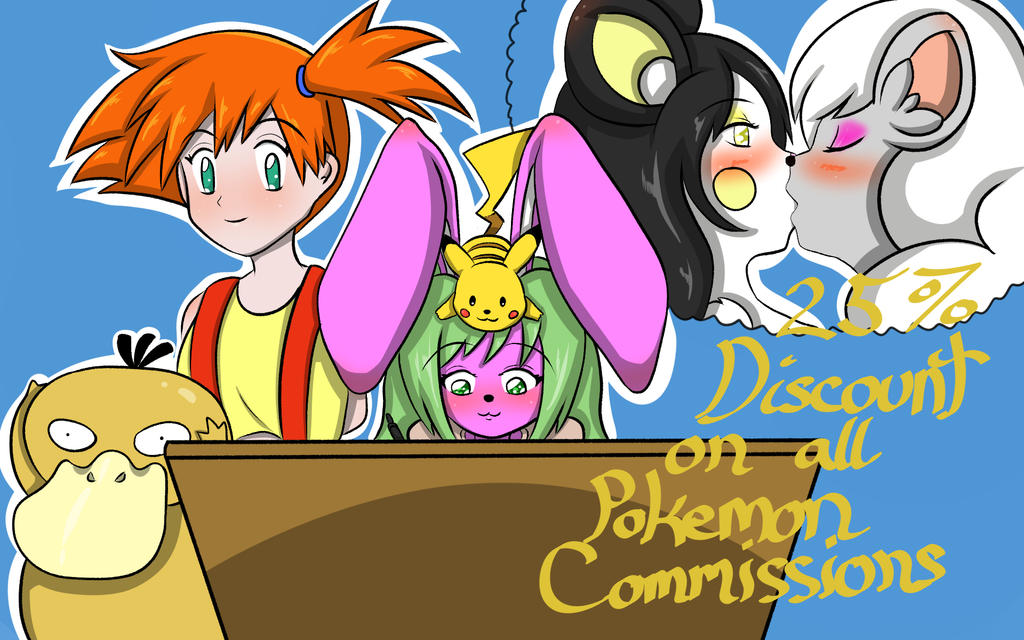25% discount on pokemon related commissions! by Momo-the-Bunny