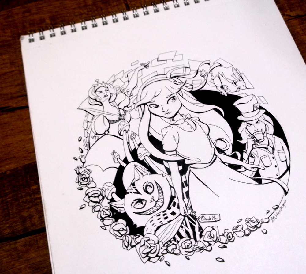 Wonderland Lineart by ComeAlight