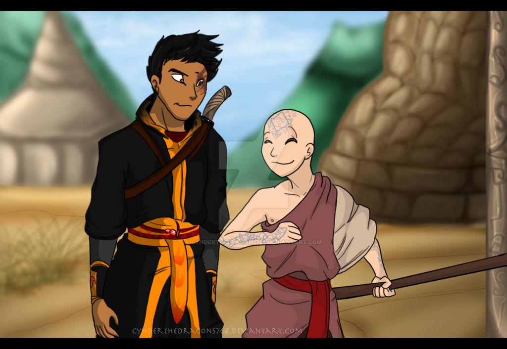 aang and zuko meet the dragons