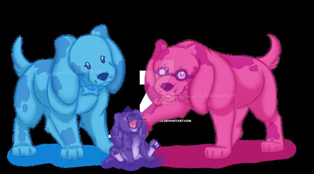 Yappy purple puppy