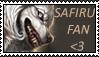 Safiru fans stamp by Alyshywolfyarty