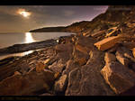 Moonlight over Peveril Point