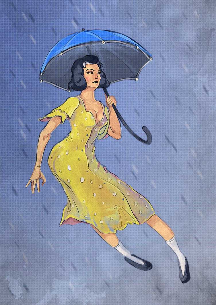 Umbrella Pin-up by VictorLafaye