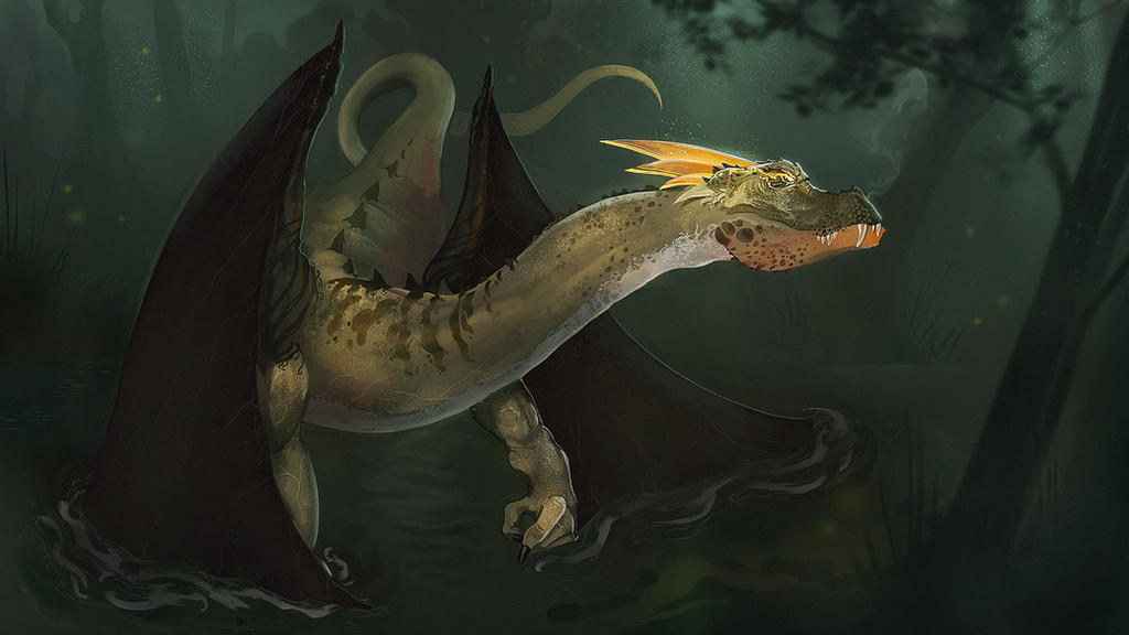 Swamp Dragon by VictorLafaye