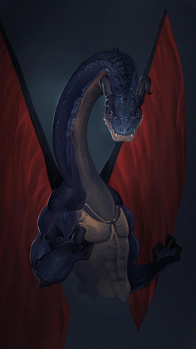 Cursed Dragon by VictorLafaye