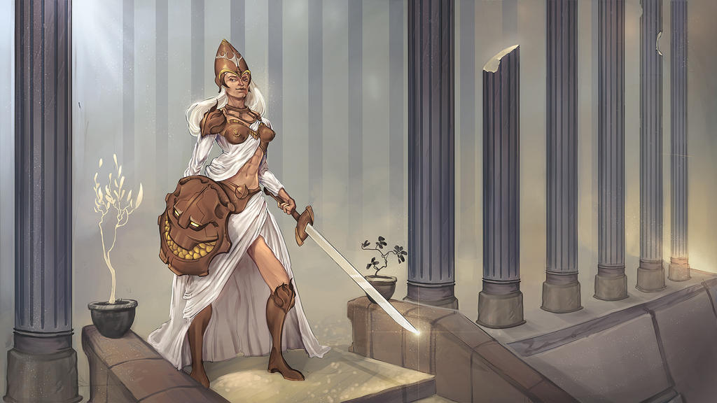 Whitelight Warrior by VictorLafaye
