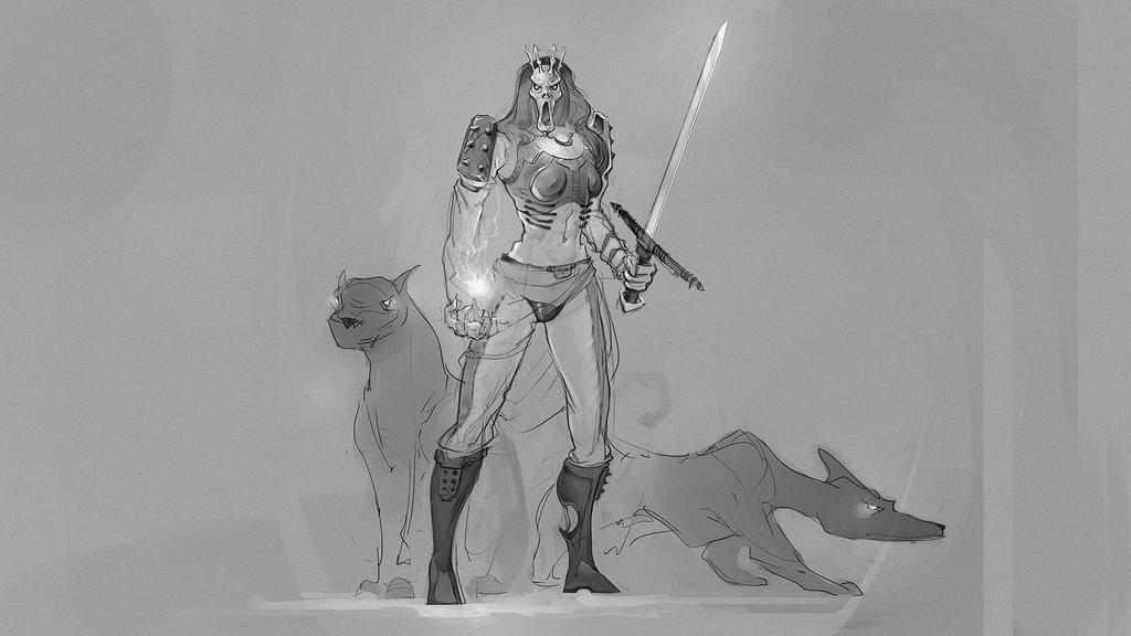 Female Character - Wild Hunt based by VictorLafaye