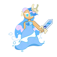 sea fairy cookie by ebf4jay