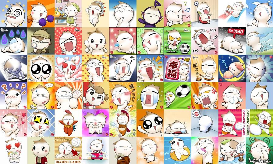 Onion Head Emoticons