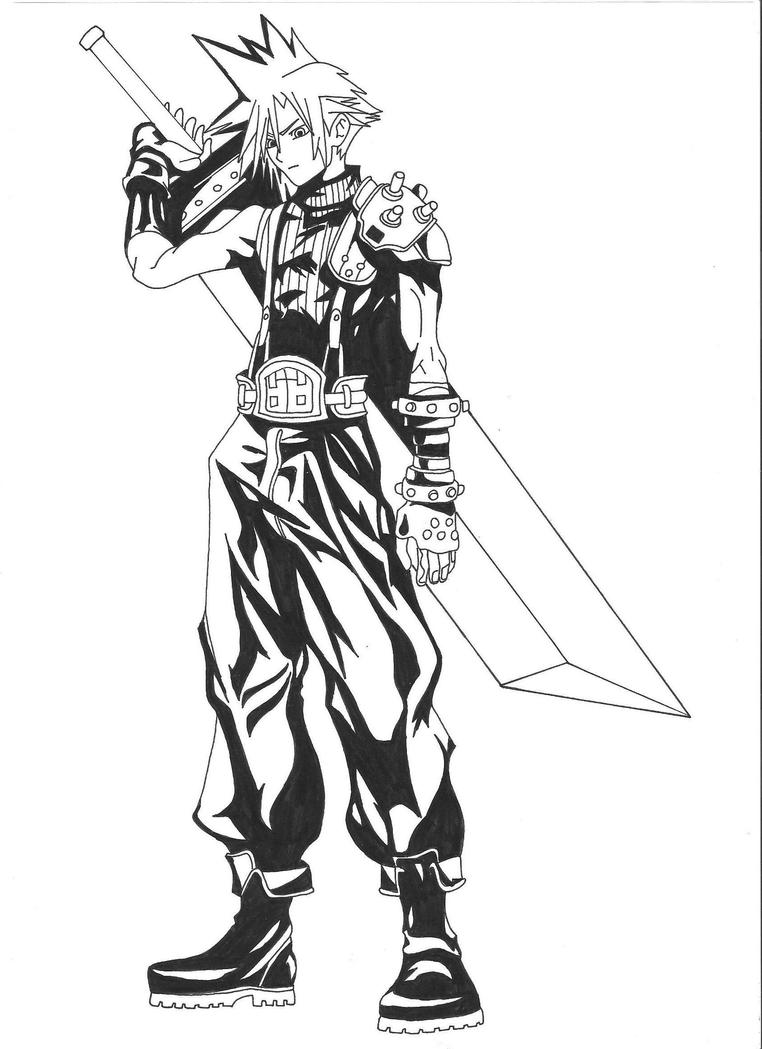 Final Fantasy Cloud - Free Coloring Pages
