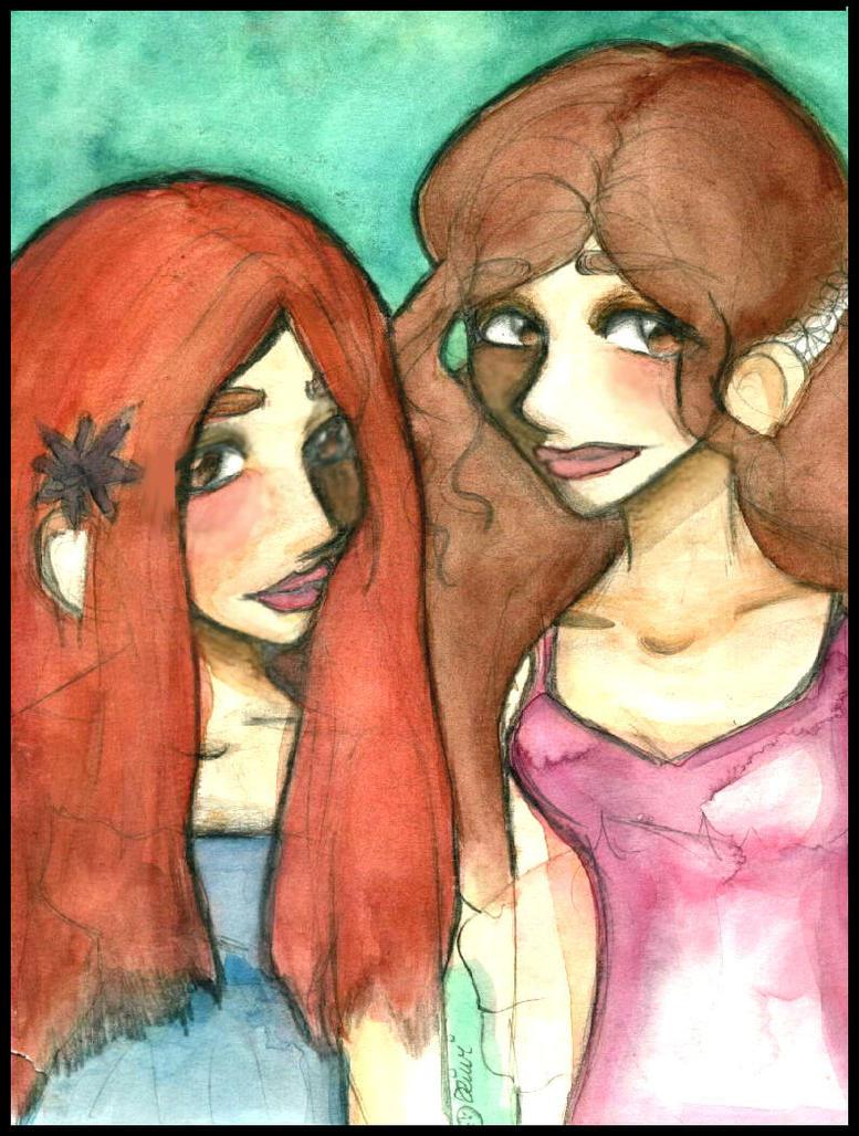 Hermione and Ginny by kiwikewte