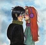 Harry Ginny Winter Smooch