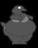 Big bikini female google chrome dino by Pancakedude