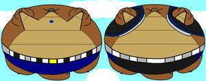 Blimp Giga-Rex and Eniar by Pancakedude