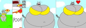 Wafflette Eats The Mega Mushroom by Pancakedude