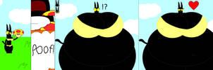 Ms.blik Eats The Mega Mushroom by Pancakedude