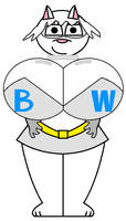 Busty Wolf (Alternate costume)Front view by Pancakedude