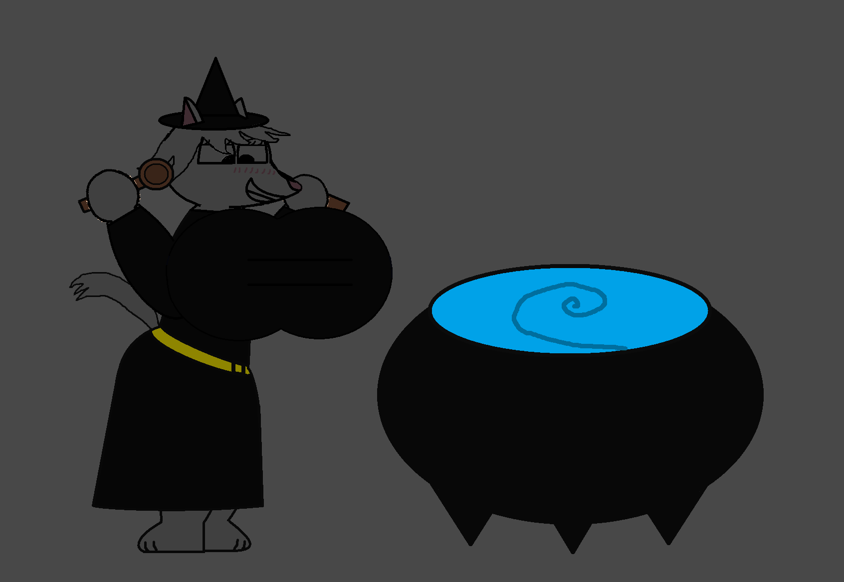 Witch Snowwhite Made Her breasts bigger by Pancakedude