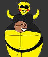 Me huging Chubby Flatey by Pancakedude