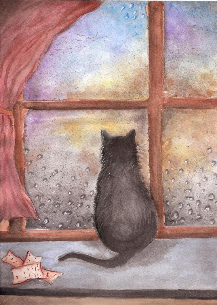 Deszczu obserwacja by Doffii