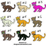 Free Cat Adoptables by sarahrubycat
