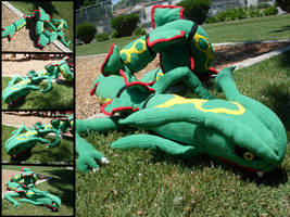 Commission: Rayquaza by MouseAlchemist