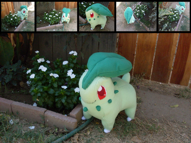 Commission: Chikorita Plush by MouseAlchemist