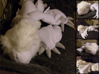 Commission: Sleepy Reshiram