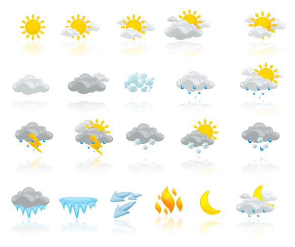 Pathfinder Weather icons by antonist