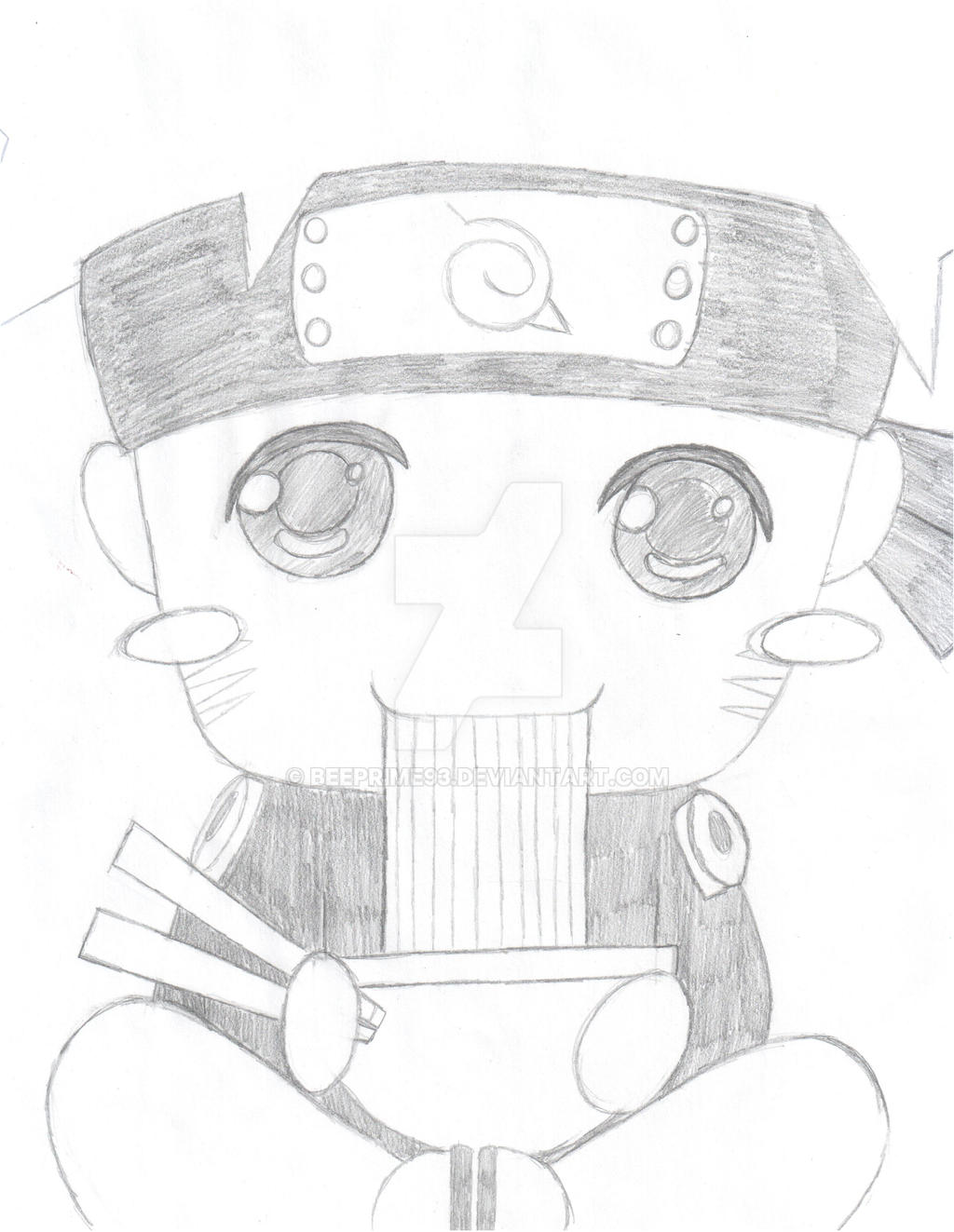 Chibi naruto pencil by beeprime93 on deviantart