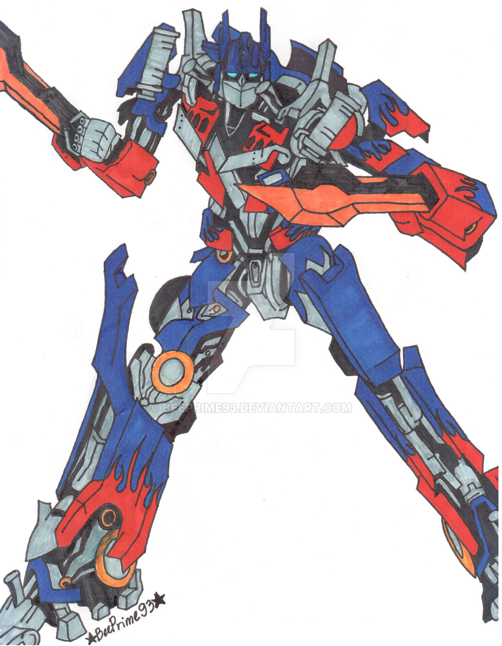 Optimus Prime For David12345re By Beeprime93 On Deviantart