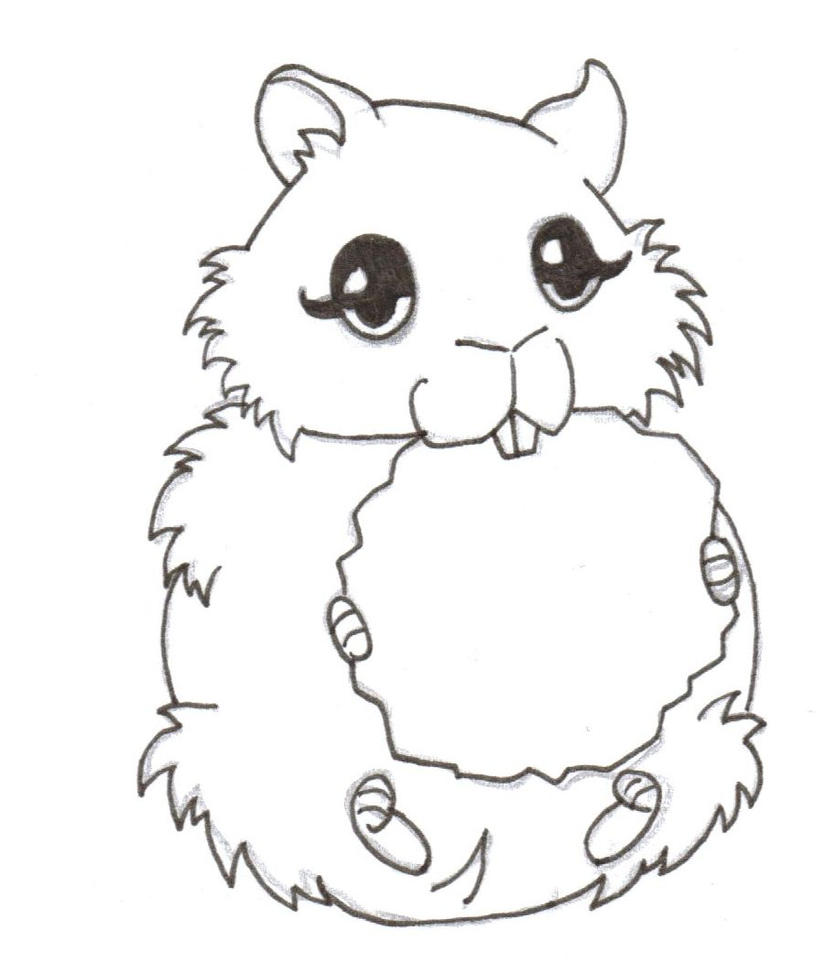 Real Hamster Coloring Pages