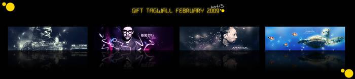 gift tagwall februrary 2009 by BARTIK13