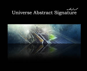 universe abstract signature