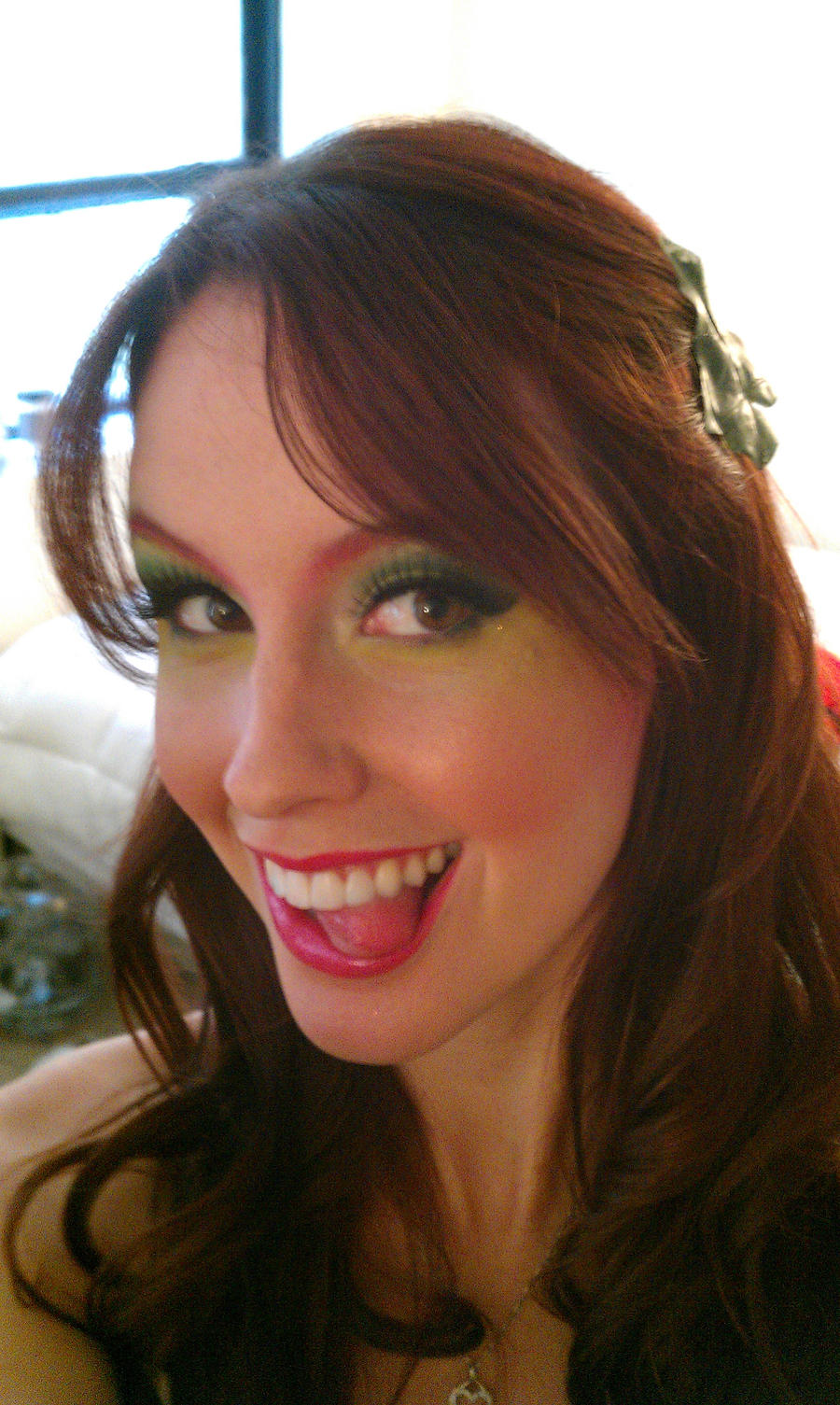 Poison Ivy Make-up by megturney