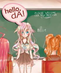 Hi, DA! by NillaPop