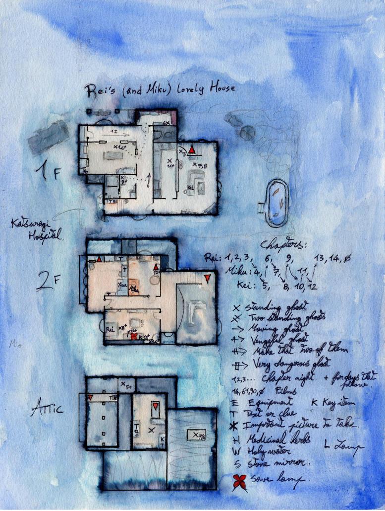 Fatal Frame 3, Rei's House by kangeis