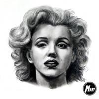 Charcoal portrait - Marilyn Monroe by M-art-works