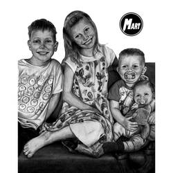 Commission - Family Potrait by M-art-works