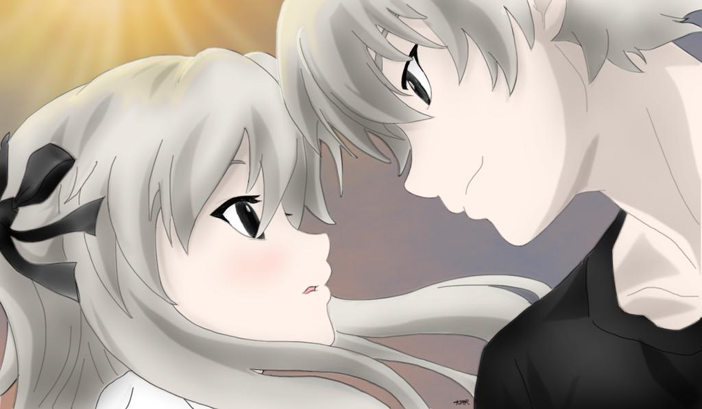 Haru x Sora-Finished by Mutsuki-KYosuga No Sora Sora And Haru Kiss