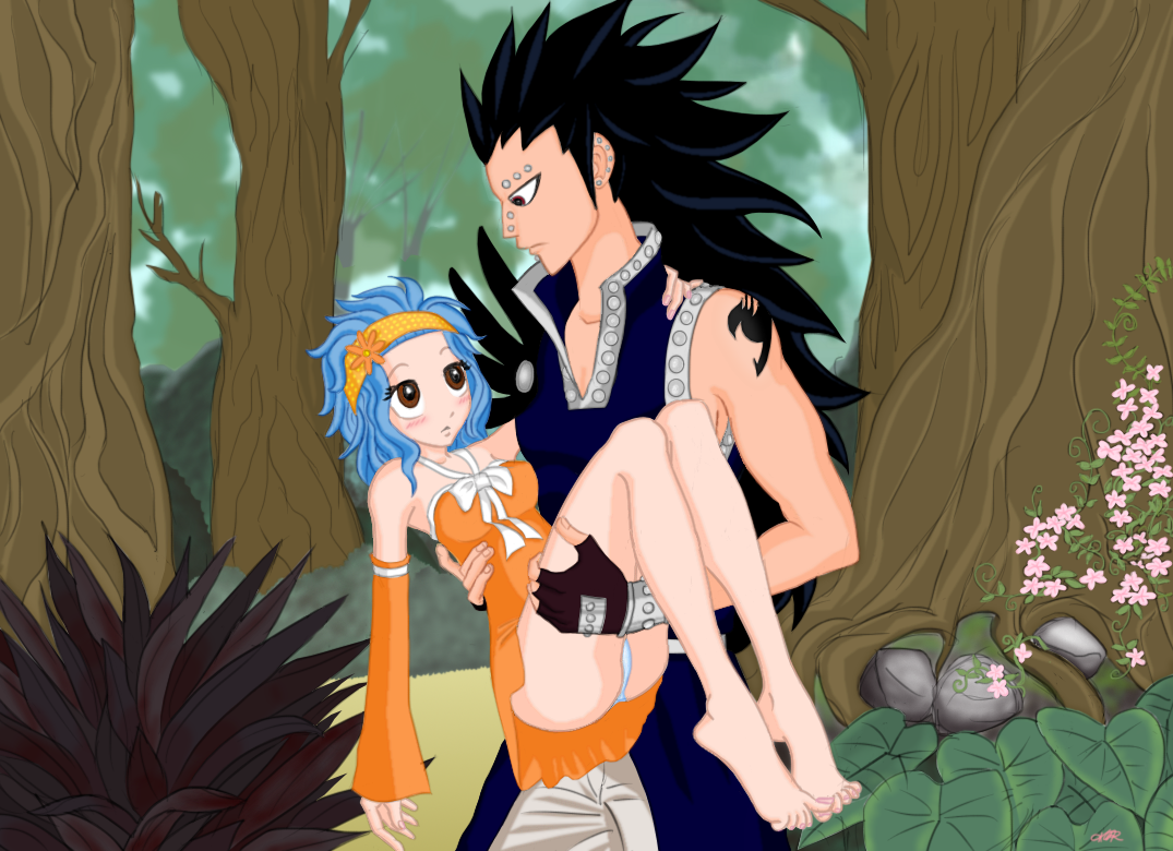 Images des couples ! - Page 12 Levy_x_gajeel_rescue_by_mutsuki_k-d4cjtts