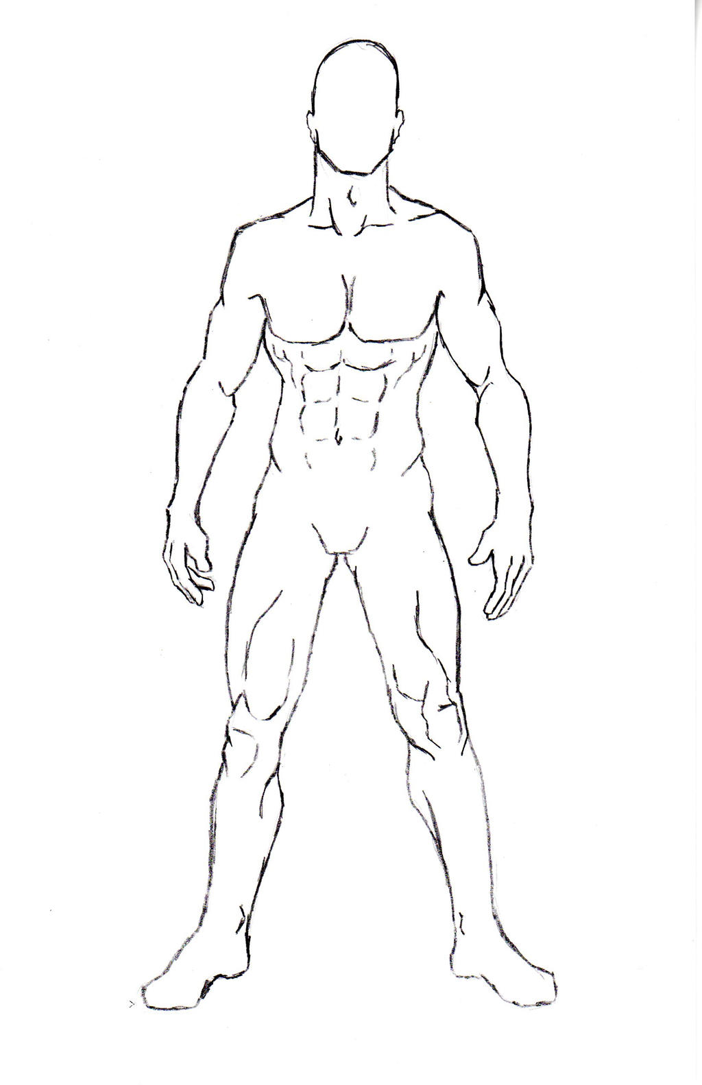 Male Character Pose 1 by One-With-No-Color on DeviantArt