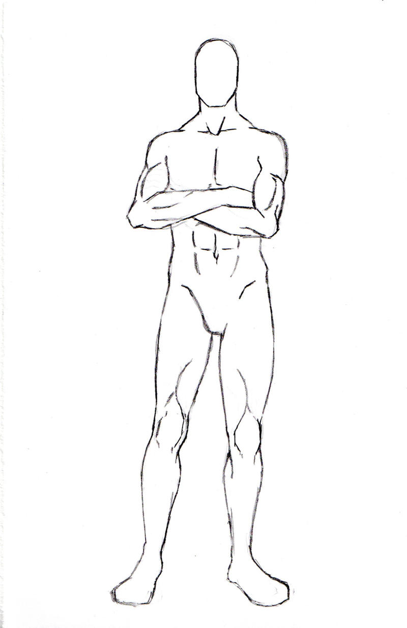 Male character pose 7 by one with no color on deviantart for Manga character template
