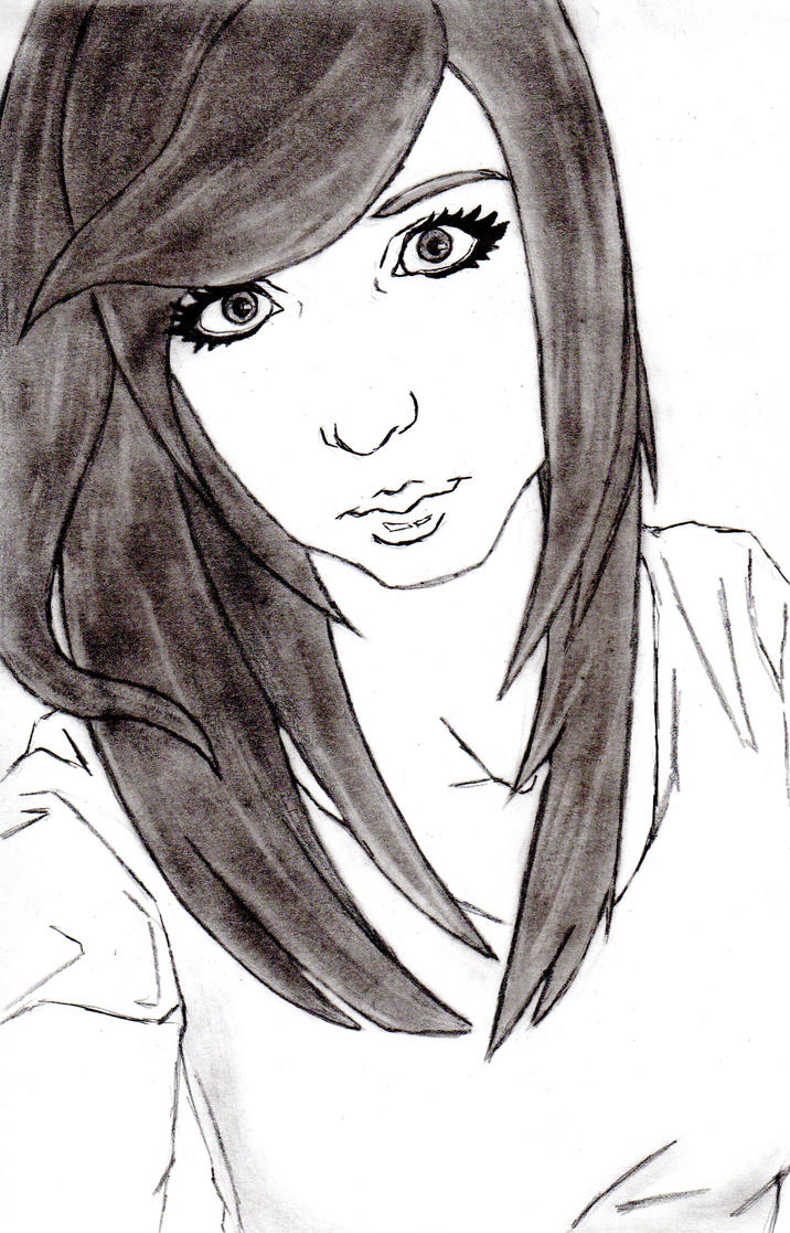 People faces 20 by one with no color on deviantart for Easy sketches of people