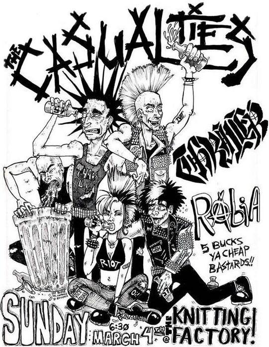 Casualties Flyer by kamikuntzi
