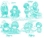 Undertale: Frisk with friends
