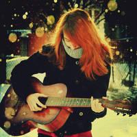 Her love guitar by CasheeFoo